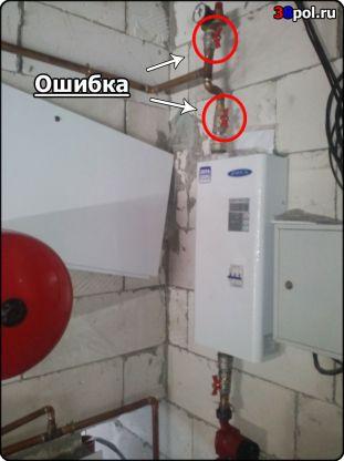 Ошибки монтажа котла отопления
