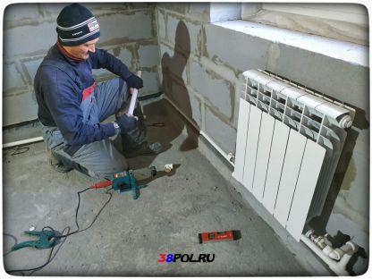Монтаж отопления в Еловом