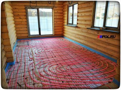Тёплый водяной пол в деревянном доме