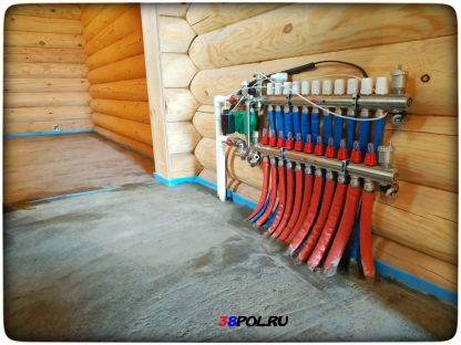 Стяжка для водяного тёплого пола в Иркутске