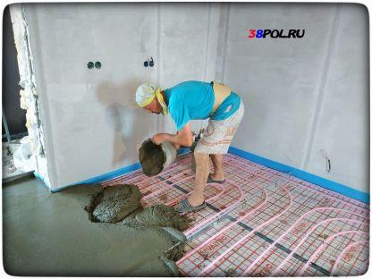 Стяжка для водяного пола в Иркутске