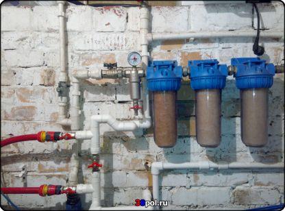 Монтаж системы фильтрации очистки воды