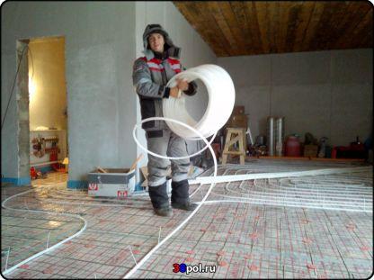 Монтаж тёплого пола, радаторов, дымохода