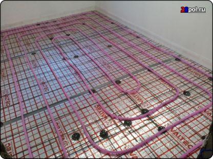 Отопление коттеджа. Система тёплый водяной пол