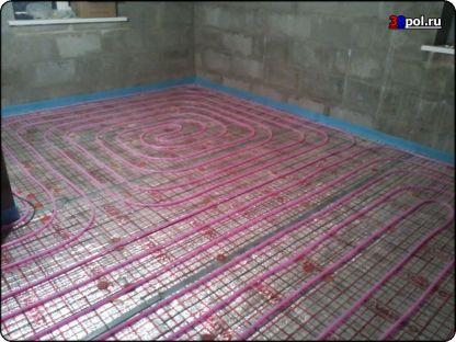 Тёплый водяной пол в доме 72 м2. Марково