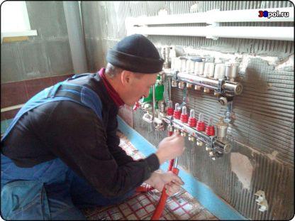 Монтаж трубы тёплого водяного пола Valtec