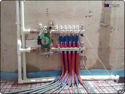 Коллектор тёплого водяного пола со смесительным узлом Valtec