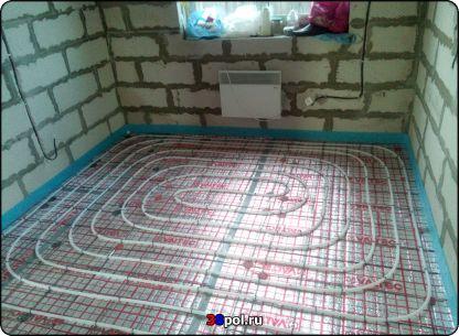 Тёплый водяной пол в доме