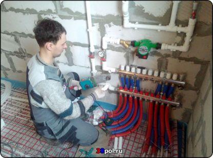 Монтаж теплого узла для тёплого пола