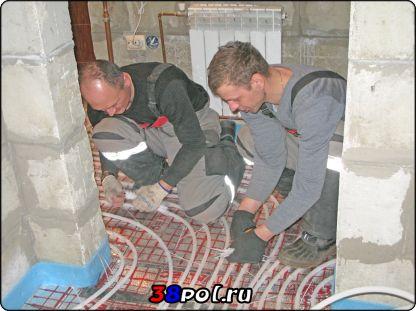 Монтаж тёплых полов в Иркутске