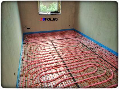 Тёплый пол в одноэтажном доме в Иркутске