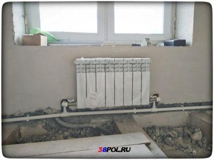 Монтаж радиаторов в частном доме в Ирктске. Маркова.