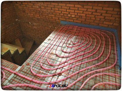 Тёплый водяной пол в кирпичном доме